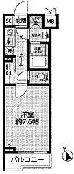 JR中央線 西荻窪駅 徒歩11分の賃貸マンション 1階1Kの間取り