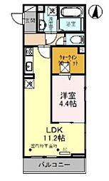 (仮)D-roomレイクタウン6丁目PJ 1階1LDKの間取り