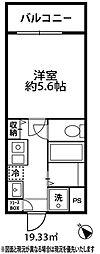 ドミール大倉山[214号室]の間取り