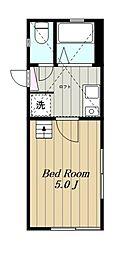 神奈川県相模原市中央区南橋本2丁目の賃貸アパートの間取り