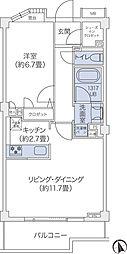 東急東横線 代官山駅 徒歩10分の賃貸マンション 1階1LDKの間取り