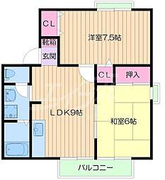 メゾンファミール[1階]の間取り