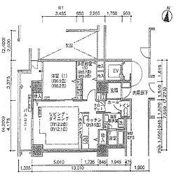 シティコート目黒 4号棟 8階1SLDKの間取り