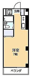 キャッスル南生田[2階]の間取り