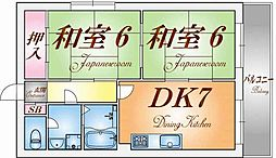 サンハイム神戸[1階]の間取り