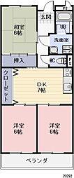 岐阜県瑞浪市一色町2丁目の賃貸マンションの間取り