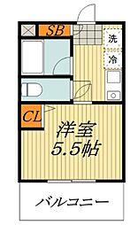 クレール中台[5階]の間取り