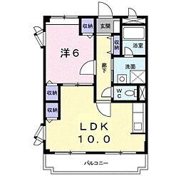 大阪府羽曳野市はびきの3丁目の賃貸アパートの間取り