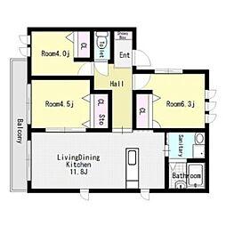 シャーメゾン和E棟[2階]の間取り