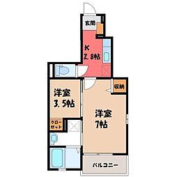 駒生町アパート(024142401) 1階1Kの間取り