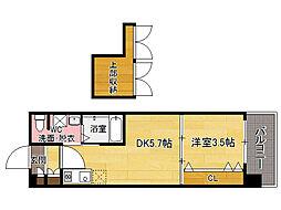 No60 V-TOWER天神[15階]の間取り