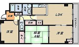 パークハイム北花田[4階]の間取り