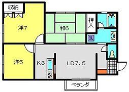 神奈川県横浜市南区別所3丁目の賃貸マンションの間取り