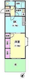 東京都大田区中央5丁目の賃貸マンションの間取り