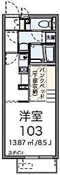 西武池袋線 秋津駅 徒歩15分の賃貸アパート 1階1Kの間取り