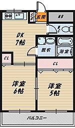 大下マンション[2階]の間取り
