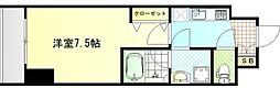 シンフォニー北新宿の杜 4階1Kの間取り