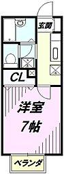 埼玉県川越市大字大袋新田の賃貸アパートの間取り