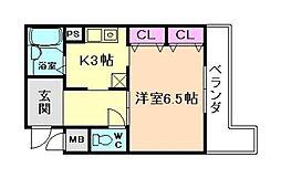 ルミエール21[3階]の間取り