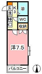 カランドリエ松島[107号室]の間取り