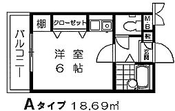 サンシティ樋井川II[307号室]の間取り