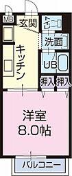 愛知県瀬戸市美濃池町の賃貸アパートの間取り