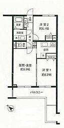 神奈川県横浜市青葉区美しが丘2丁目の賃貸マンションの間取り
