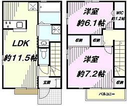 [テラスハウス] 東京都八王子市中野町 の賃貸【/】の間取り