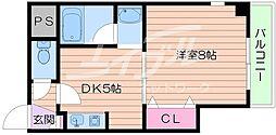 メゾン・ド・フレシェール 6階1DKの間取り