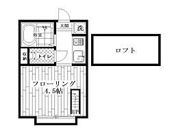東京都杉並区西荻北4丁目の賃貸アパートの間取り