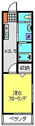 メゾンヒロ[203号室]の間取り