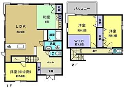 [一戸建] 福岡県福岡市東区松崎3丁目 の賃貸【/】の間取り