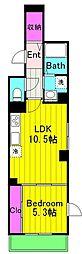 仮)麻生区百合丘1丁目Project 2階1LDKの間取り