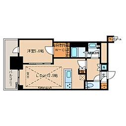 都営大江戸線 春日駅 徒歩1分の賃貸マンション 14階1LDKの間取り