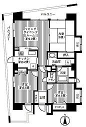コスモ戸田公園セントラルビュー[805号室]の間取り