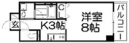 クリザンテェーモ[8階]の間取り