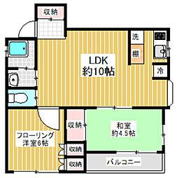 東京都世田谷区八幡山1丁目の賃貸マンションの間取り