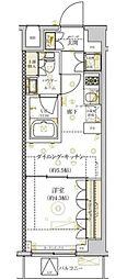 東急目黒線 西小山駅 徒歩9分の賃貸マンション 3階1DKの間取り