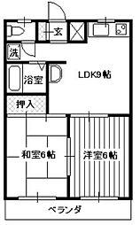 シャトレ所沢[1階]の間取り