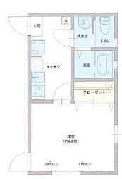 仮称 足立区西伊興1丁目新築アパート 1階1Kの間取り