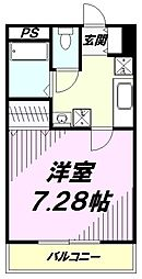 東京都八王子市明神町3丁目の賃貸マンションの間取り