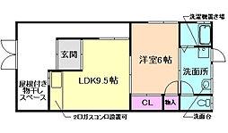 阪急宝塚本線 庄内駅 徒歩17分の賃貸一戸建て 1階1LDKの間取り