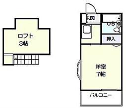 ジュネスpart2[2階]の間取り