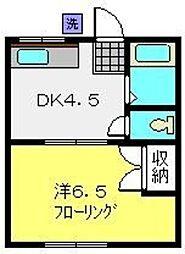 メゾン村松[202号室]の間取り