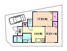 [一戸建] 大阪府豊中市桜の町4丁目 の賃貸【/】の間取り