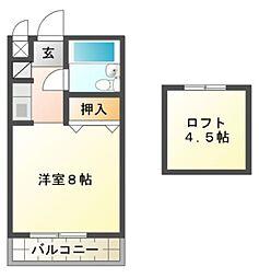 愛知県岡崎市元欠町3丁目の賃貸アパートの間取り