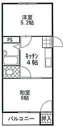 福岡県福岡市早良区原3丁目の賃貸マンションの間取り