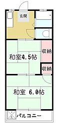 八坂ハイツ[2階]の間取り
