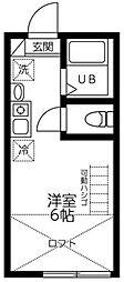 ケイ20 新高円寺 2階ワンルームの間取り