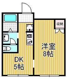 カーサコモダ[2階]の間取り
